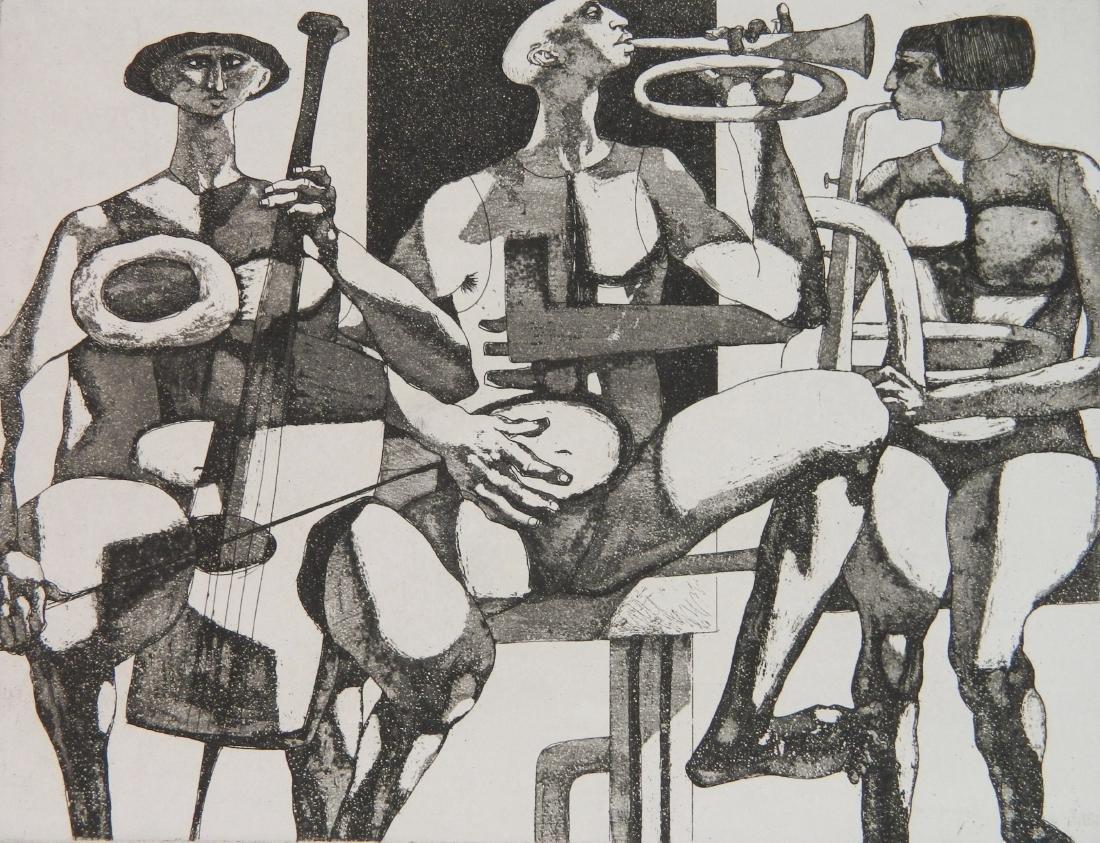 3 American prints- Music themes - 7