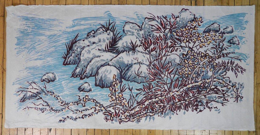 3 American woodcut in color