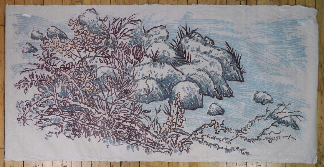 3 American woodcut in color - 4
