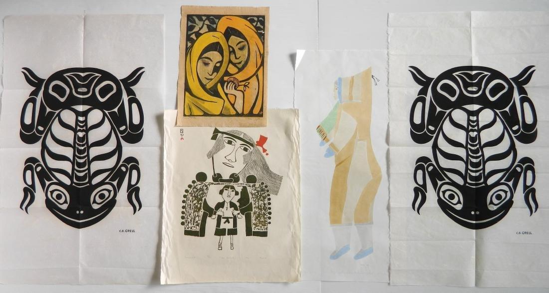 5 Inuit art prints
