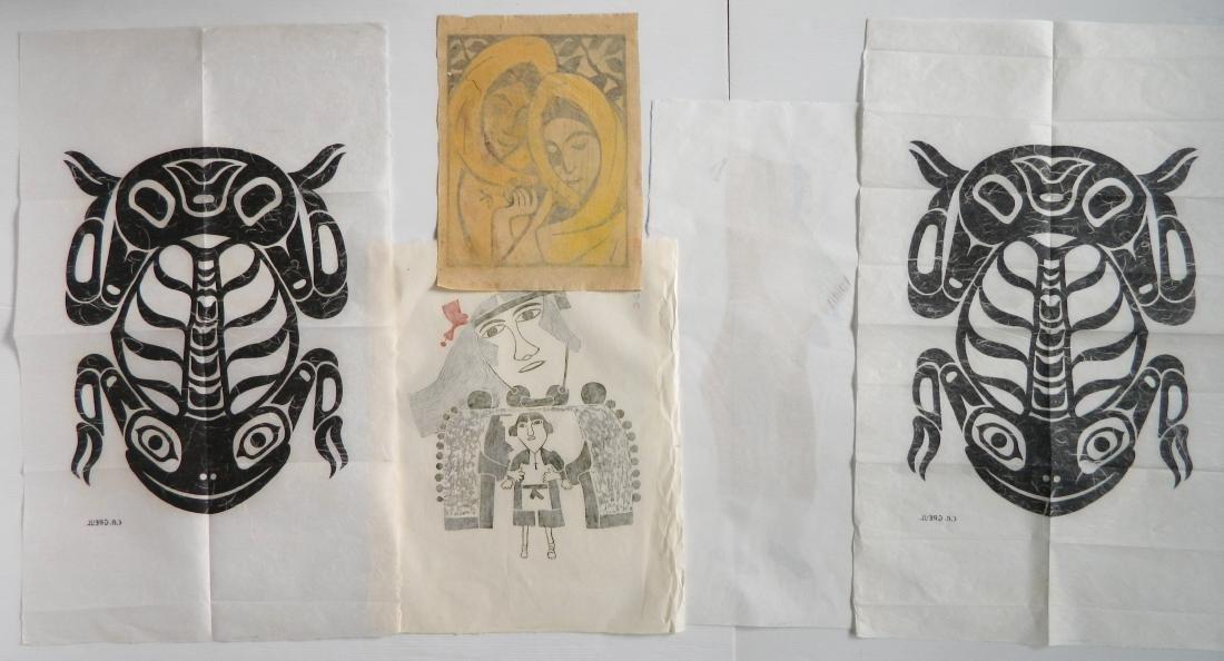 5 Inuit art prints - 2