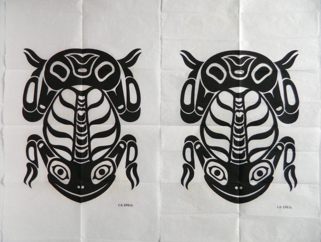 5 Inuit art prints - 3