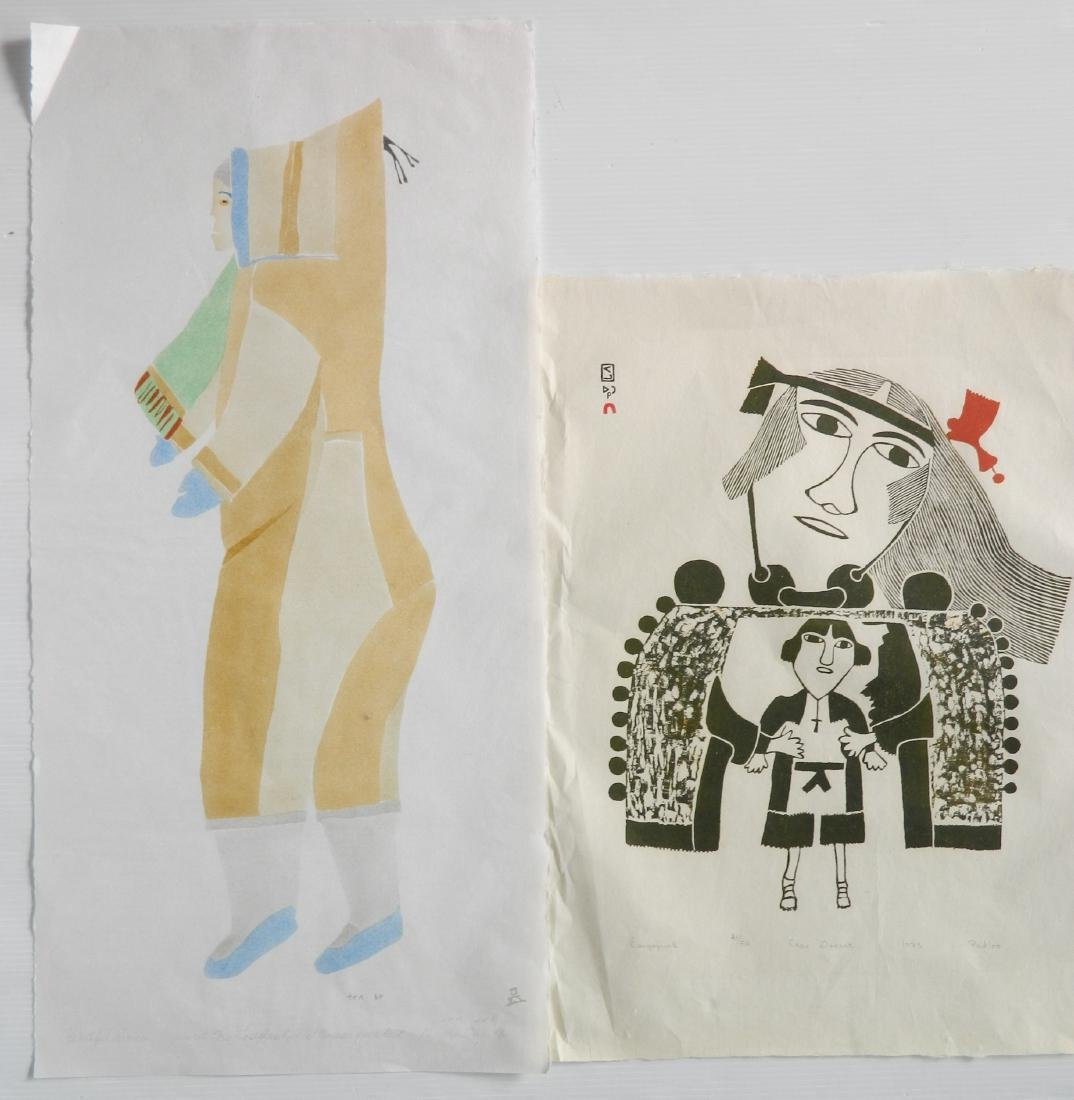5 Inuit art prints - 7