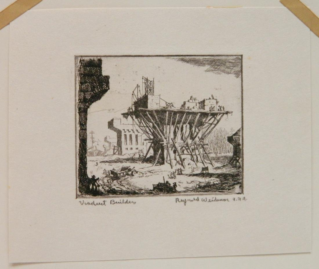 4 Miniature Print Society etching - 2