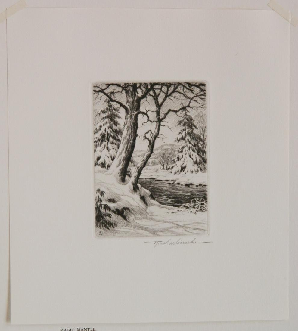 4 Miniature Print Society etching - 3