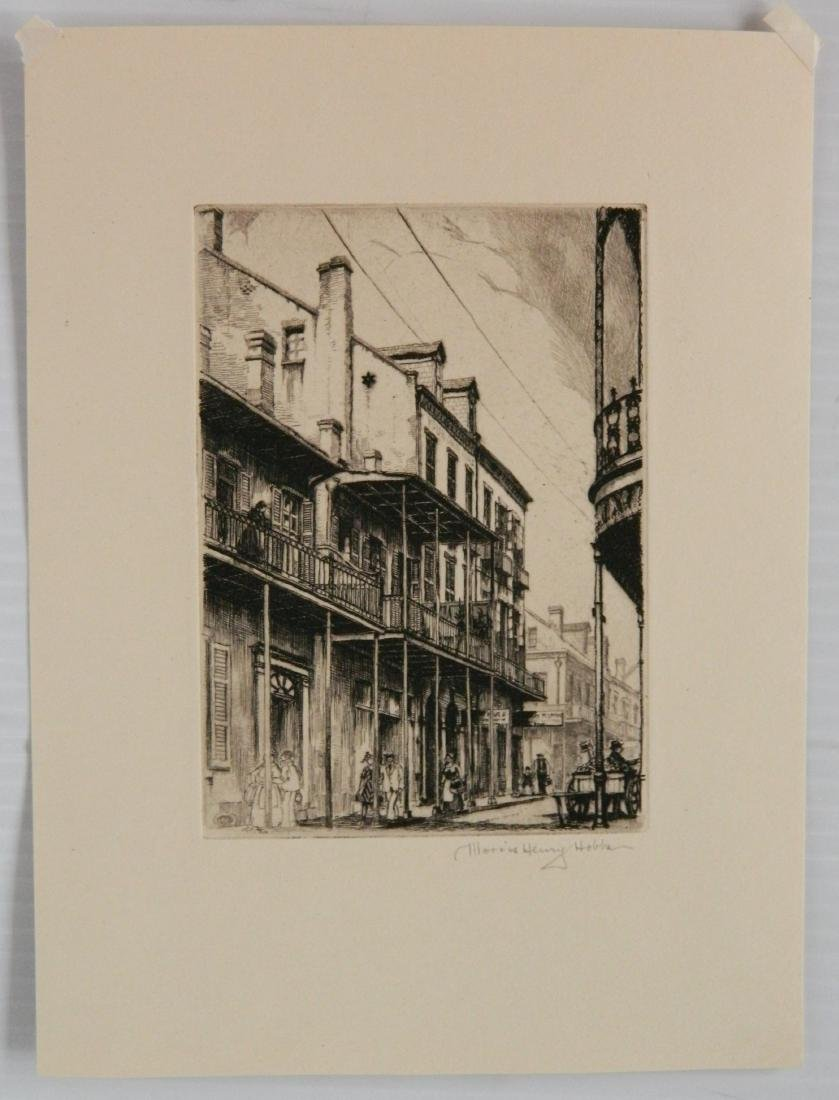 4 Miniature Print Society etching - 4