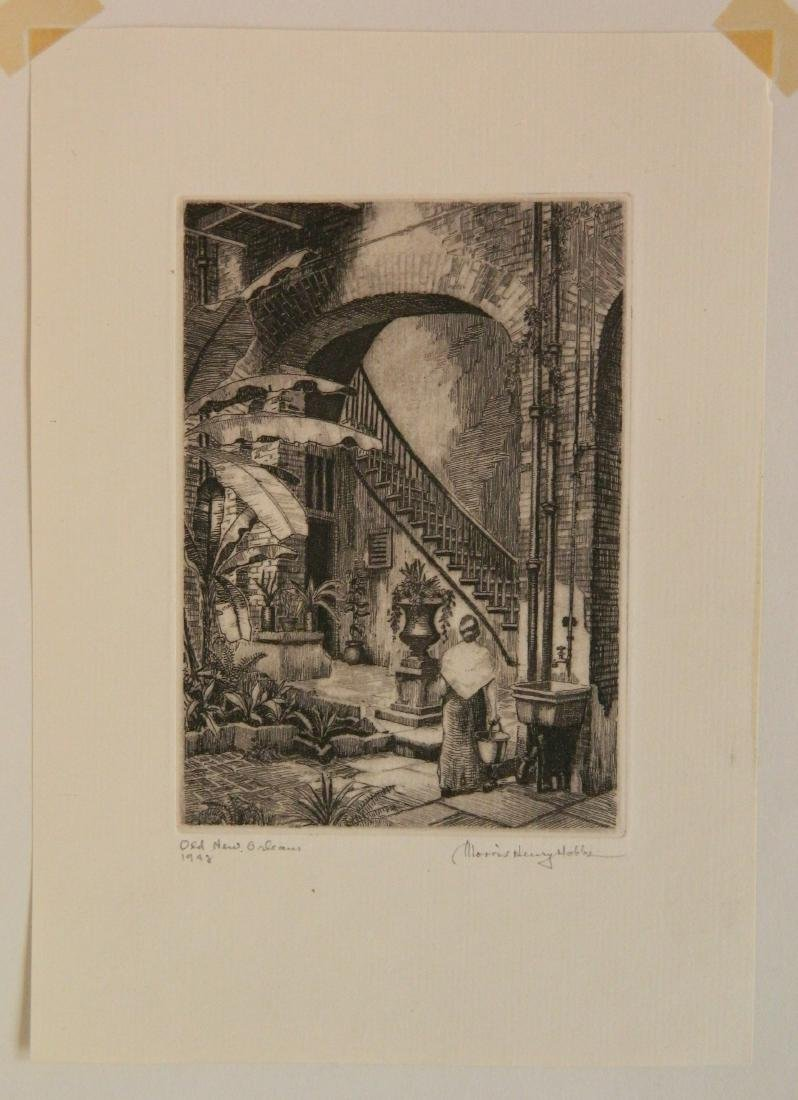 4 Miniature Print Society etching - 7