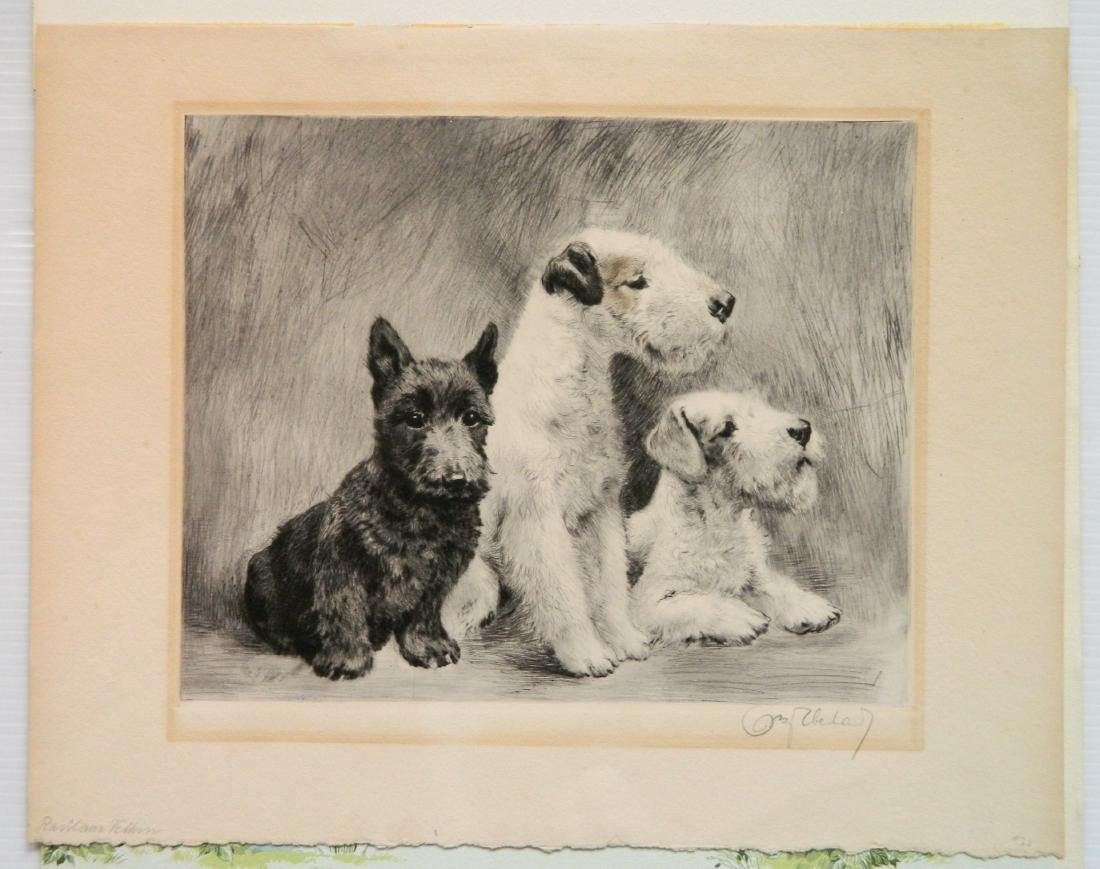 6 Dog Themed works on paper - 4