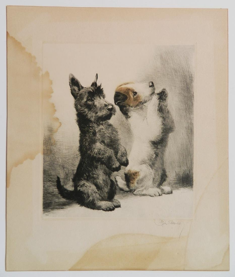6 Dog Themed works on paper - 6