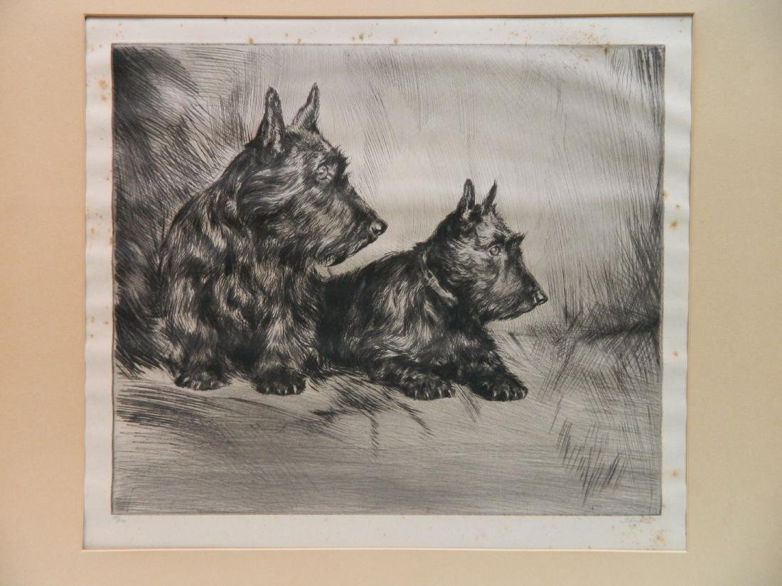 6 Dog Themed works on paper - 9