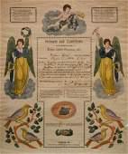 German Fraktur birth certificate