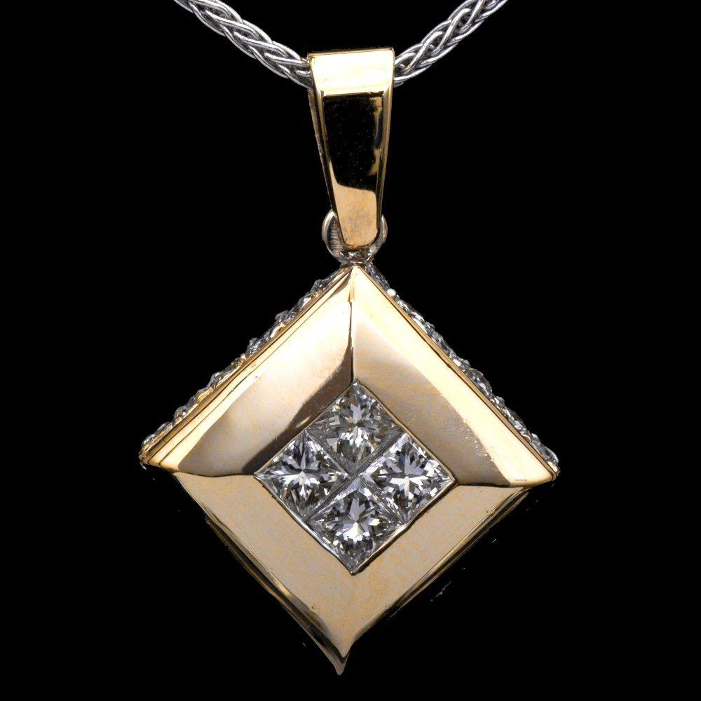 18K GOLD PENDANT W/ 1.43ct. DIAMOND