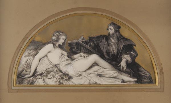 1010: Hans Makart, Leonardo da Vinci mit weiblichem Mod