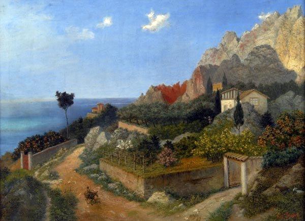1015: Carl von Binzer, Italienische Landschaft, um 1860