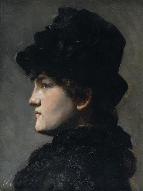 1020: Curt Rüger, Damenbildnis, um 1900