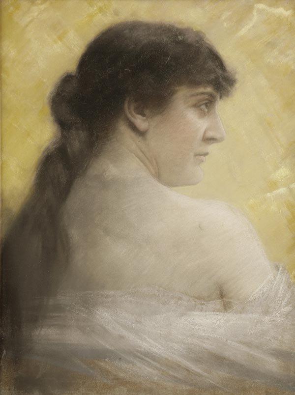 1021: Otto Biermer, Damenbildnis, um 1890