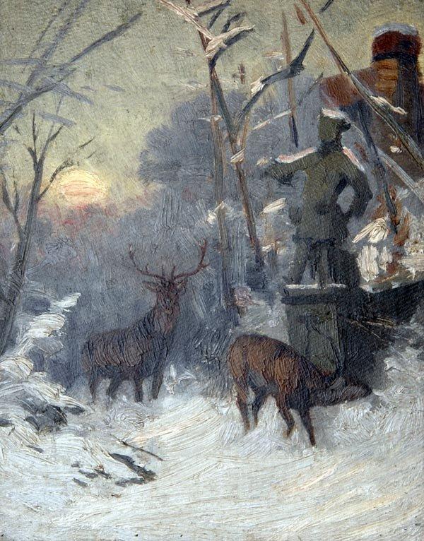 1022: Arthur Thiele, Winterlandschaft, um 1900
