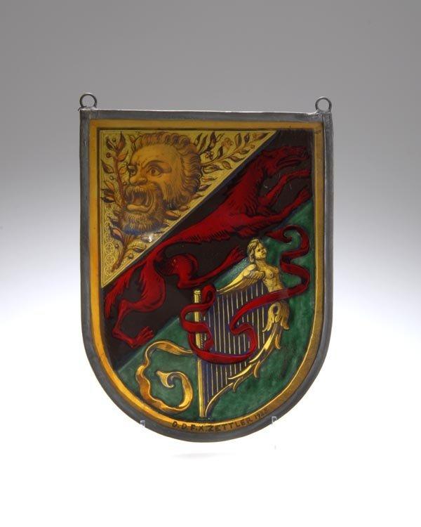 1024: F. X. Zettler, Glasmalerei, München, Glasbild, 19