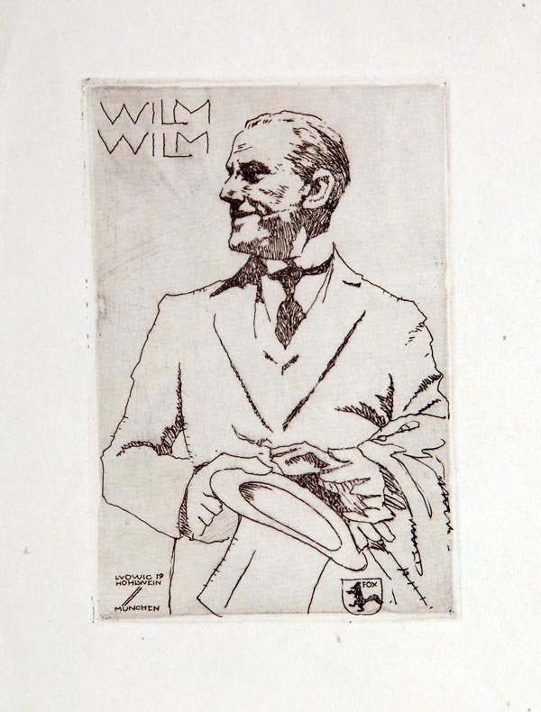 1065: Ludwig Hohlwein, Exlibris 'Wilm Wilm', 1919