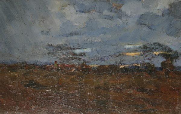 3004: Felix Eisengräber, Gewitter über dem Moor, um 193
