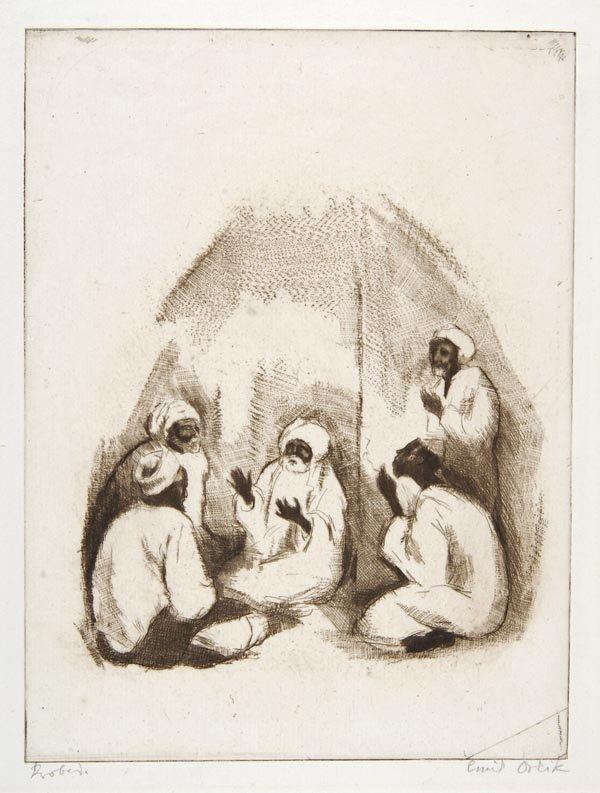3006: Emil Orlik, Arabische Märchenerzähler, 1912