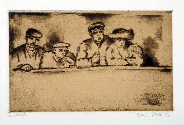 3007: Emil Orlik, In the Gallery (Grand Guignol), 1911
