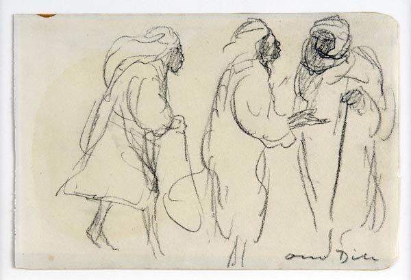 3008: Otto Dill, Arabs in Conversation, around 1930