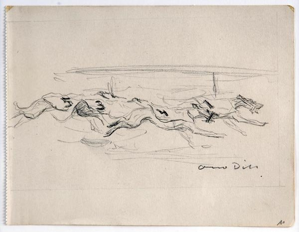 3009: Otto Dill, Greyhound Race, around 1930