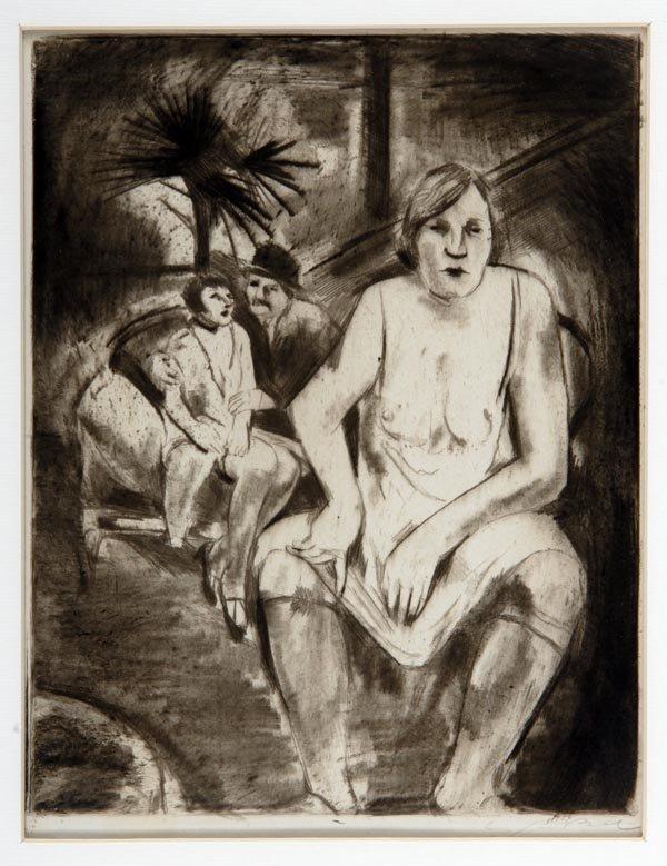 3013: Willy Jaeckel, Im Bordell, um 1920
