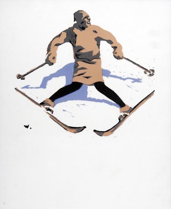3020: Alfons Walde, Skier, around 1922