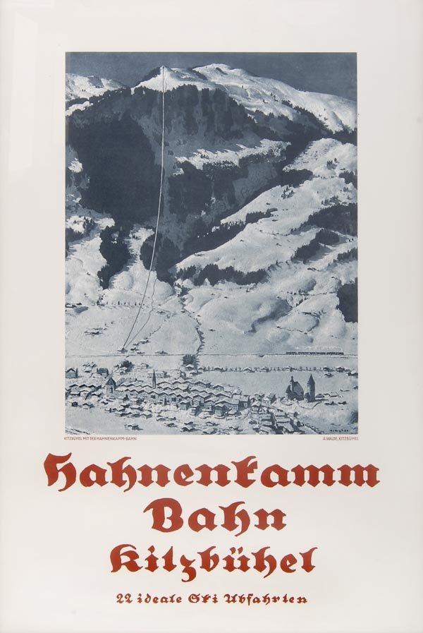 3021: Alfons Walde, Hahnenkamm Bahn Kitzbühel, 1932