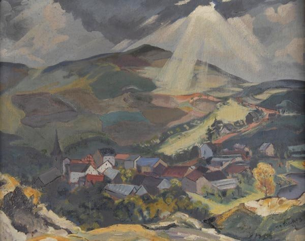 3022: Till Kreuzberg, Hügelige Landschaft, 1932