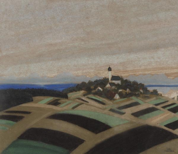 3023: Josef Mauder, Bayerische Landschaft, um 1930