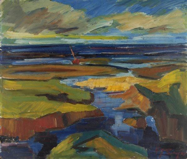 3024: Unbekannter Künstler, Im Wattenmeer, um 1940