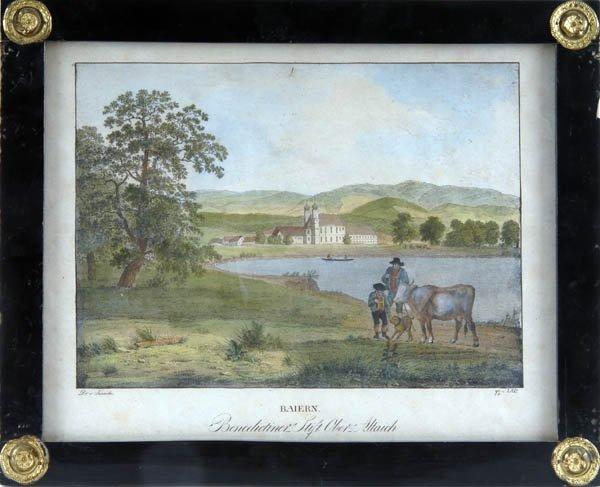 1: Jakob Alt, Zwei Ansichten in Bayern, um 1822