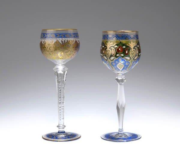 23: Glashütte Fritz Heckert, Petersdorf, Weinglas, um 1