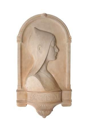 Eduard Beyrer, Junge Frau im Profil, 1917