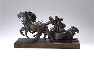 Albert Moritz Wolff, Sleigh Ride in Winter, aroun