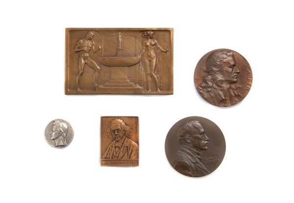 916: Frei, Hans; Medaille 'Friderico Schiller', 1905