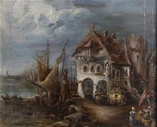 Niederlande, 18. Jahrhundert, Gewitterstimmung im Ha