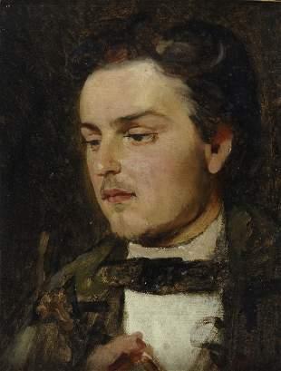 Eduard von Gebhardt, Porträt eines Mannes, 1861