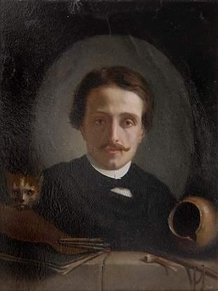 Edouard Amable Onslow, Selbstbildnis, um 1880