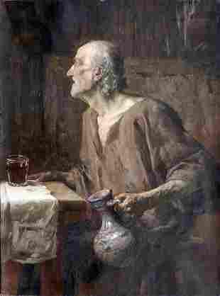 Abel Dominique Boyé, Porträt eines alten Mannes, um