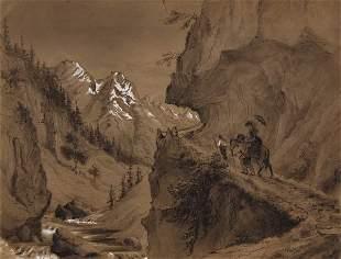 Heinrich Bürck, Gebirgslandschaft, 1873