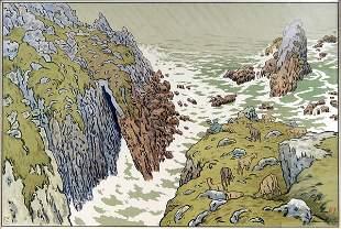 Henri Rivière, 'La Falaise', 1897