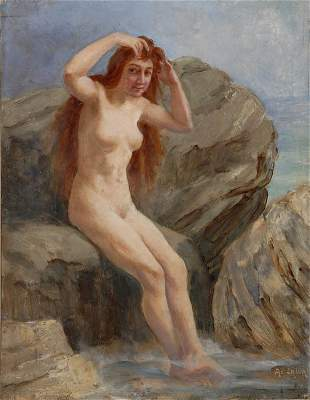 Adolphe La Lyre, Mädchen an der Quelle, um 1880