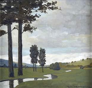 Willi Herrmann, Landschaft, um 1920