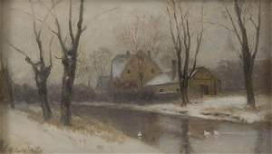 57: August Splitgerber, Winter Landscape, around 1900