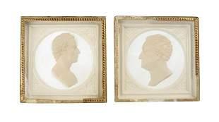 Leonhard Posch, Paar Profilportraits 'Friedrich von