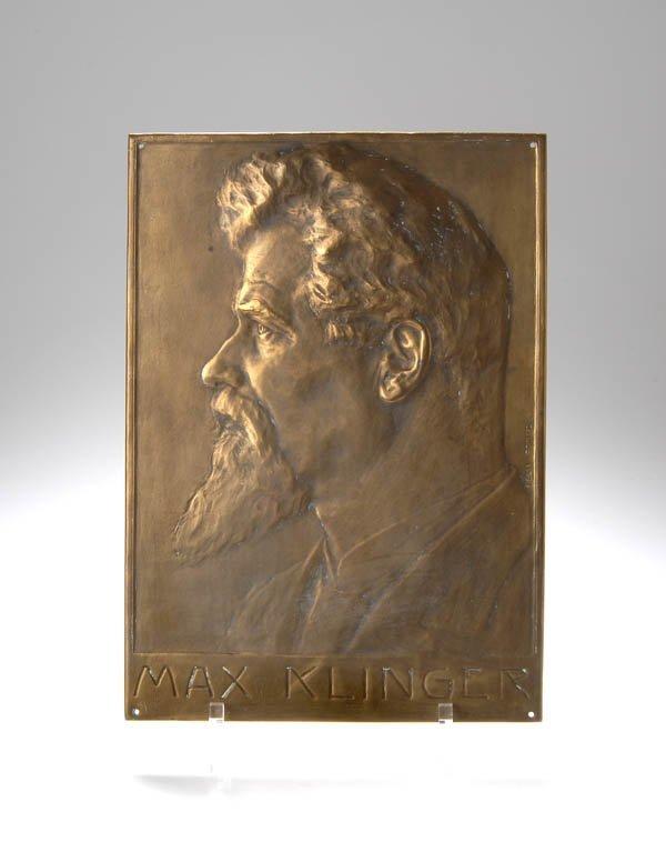 9: Felix Georg Pfeifer, Plakette 'Max Klinger', 1902
